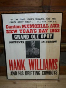 HANK WILLIAMS SENIOR POSTER.