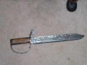 CONFEDERATE D-GUARD BOWIE KNIFE.